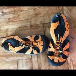 Orange KEEN sandals